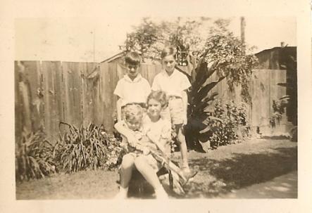 Bob Otto, Bruce Mason, Donald Mason and Ikey Mason - August 1935