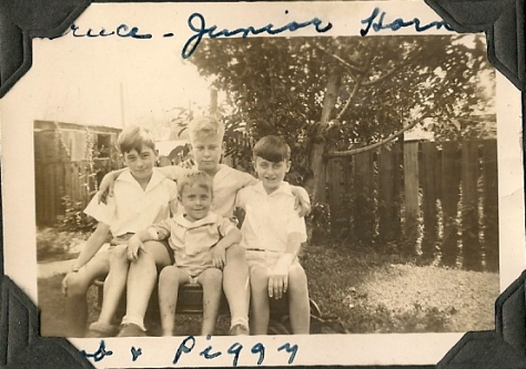 Bruce Mason, Junior Horne, Bob Otto and Peggy - 1