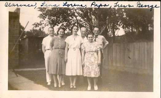 Clarence, Lena, Lorene, Papa, Tres and George Mason (Lena's husband)